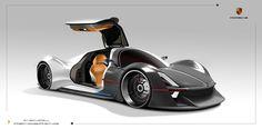 Porsche Fuel-Cell Vehicle Exterior Design by Pan zhipeng | Cars Concept