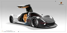 Porsche Fuel-Cell Vehicle Exterior Design by Pan zhipeng | Cars Concept