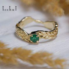 Каблучка у формі золотого колоска зі смарагдом Twig Ring, Branch Ring, Feather Ring, Vintage Silver Rings, Gold Rings, Black Rhodium, Unique Rings, Emerald Green, Wedding Bands