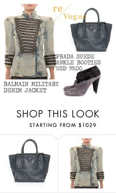 """SHOP - Re-Vogue"" by ladymargaret ❤ liked on Polyvore featuring Balmain"