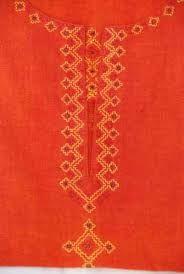 Image result for kasuti embroidery Kasuti Embroidery, Hand Embroidery, Embroidery Designs, Neck Pattern, Stitch Design, Blackwork, Neck Design, Artwork, Dress