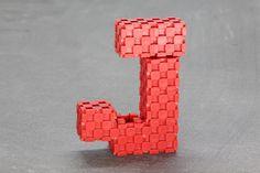 letter J with Lini cubes (7 blocks) http://www.lini.toys  #linicube #lini #toy #education #ABC #alphabet #letter