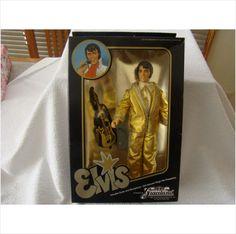 EUGENE DOLL CO. ELVIS GRACELAND 1984 DOLL UNOPENED IN BOX GOLD LAME