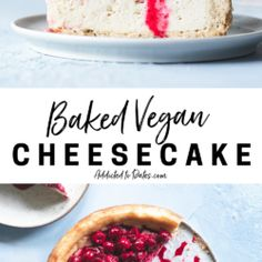Cherry Compote, Springform Cake Tin, Frozen Cherries, Vegan Cheesecake, Cake Tins, Vegan Butter, Vegan Desserts, Dates