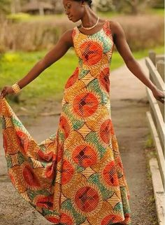 Simple maxi ankara dress
