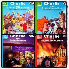 Collection d'audio-livres en anglais pour faire découvrir Londres et la culture anglaise aux enfants (+7ans) Les livres correspondent au niveau A1 du CECRL www.linguatoys.com