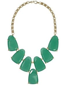 Harlow Necklace in Green - Kendra Scott Jewelry. The perfect statement jewels to match your hat at the #kentuckyderby.