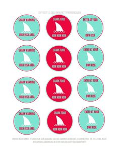 6 Best Images of Shark Party Printables - Shark Party Free Printables Labels and Food, Free Printable Shark Birthday Party and Shark Party Free Printables Boy Birthday Parties, Guy Birthday, Birthday Ideas, Birthday Decorations, Kids Party Themes, Party Ideas, Shark Art, Party Printables, Free Printables