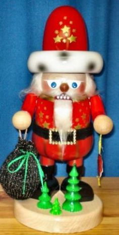 Steinbach SIGNED Gnome Santa Claus German Christmas Nutcracker Made Germany