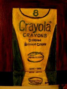 D.OBERLING/REALISM/CRAYONS/STILL LIFE/SCHOOL/OIL/PAINTING/ORIGINAL/ART/7x9 #Realism