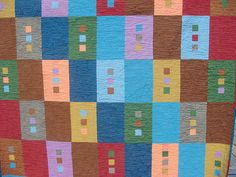 Solids quilt - interesting use of colour and their combinations