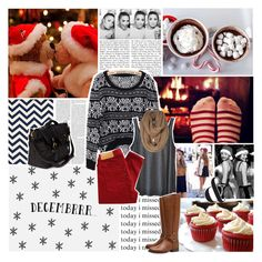 """""""it's Decembrr."""" by k-rista ❤ liked on Polyvore featuring Edition, American Vintage, Levi's Made & Crafted, Tory Burch, Friis & Company, sweaters, winter, christmas, jumpers and december"""