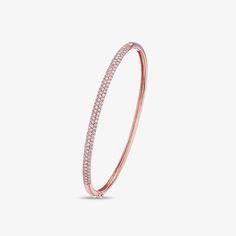 Luvente 14K Rose Gold/Round Diamond Bracelet