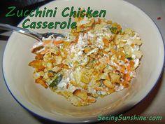 Zucchini Chicken Casserole
