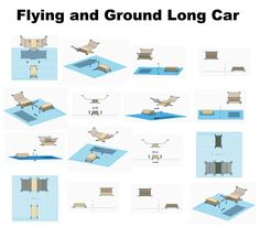 Flying and Ground Long Car