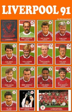 The Liverpool FC squad Shared by Motorcycle Fairings - Motocc Football Liverpool, Fifa Football, Liverpool Players, Liverpool City, Football Cards, Kenny Dalglish, Peter Beardsley, John Barnes, Derby
