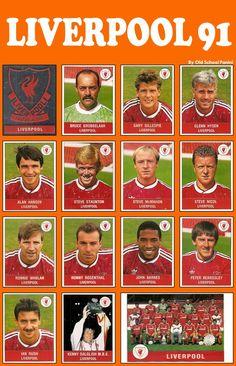 The Liverpool FC squad 1990-91 #LFC #transition #endofanera