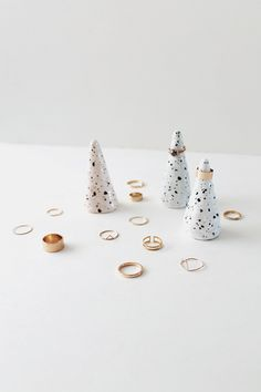 diy faux ceramic ring cones