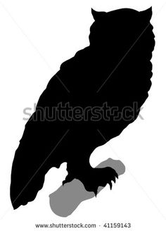 silhouette of owl - stock vector