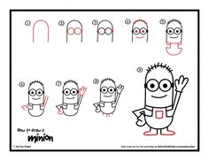 Download the free how to draw a minion printable
