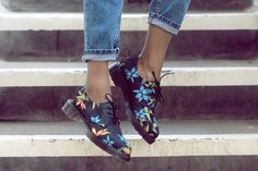Dr. Martens Hawaiian print Lester shoes.