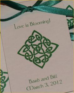 Irish Celtic Knot Wedding Flower Seeds Party Favors by SuLuGifts, $21.00