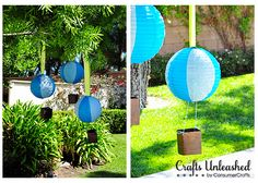 Create your own fun and whimsical decorations with this paper lantern hot air balloon craft tutorial.