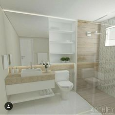 Under sink shelf House Design, Bathroom Interior Design, Wooden Bathroom, Bathroom Design Styles, Home Deco, Tiny Bathroom, Bathroom Design Small, Bathroom Design Luxury, Bathroom Decor