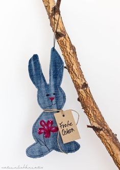 natuerlichkreativ: Jeans upcycling - Osterhase - Verpackungsidee