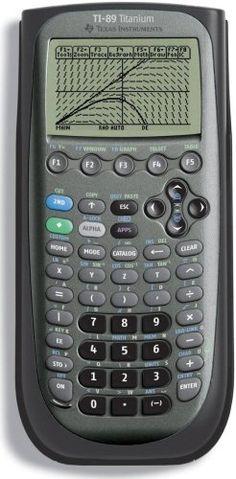 Texas Instruments TI-89 Titanium Graphing Calculator - http://www.newofficestore.com/texas-instruments-ti-89-titanium-graphing-calculator-2/
