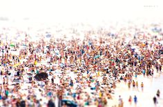 A Bondi Beach Mess - thousands of onlookers at a surfing contest