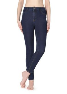 Calça Jeans Push-Up Macias - MODP0900 - calzedonia Legging Jean, Leggings, Push Up, Bell Bottom Jeans, Blue Jeans, Skinny Jeans, Pants, Toque, Women