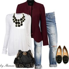 blazer and jeans by shauna-rogers on Polyvore
