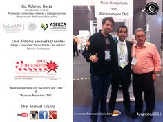 con Rolando Garza (Coordinación Gral. de Promoción Comercial y Fomento a las Exportaciones) (Responsable de Eventos Nacionales) Aserca Sagarpa, SAGARPA_mx & mi #amigo y #colega Antonio Sayavera (( Toñete Sayavera )) en #confitexpo2015!!! buena vibra!!! #chefcms #confitexpo #aserca #sagarpa #gobiernofederal #televisa #televisaguadalajara #guadalajara #agusto