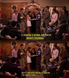 Andy and April (Parks and Recreation) best wedding vows ever.... Totally something I would say
