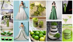 Happy St Patricks Day!  Green wedding inspiration...  Wedding Dress is Alfred Angelo 1612  Bridesmaid Dress is Alfred Angelo 7187