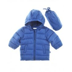 Long-sleeved jacket, with hood, in polyester, with synthetic padding. Front zip opening, two front pockets and logo tag on the side. Nylon carry bag.
