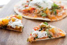 Open Faced Enchilada Quesadilla | www.sprinklewithflour.com