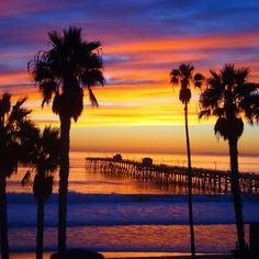 San Clemente, CA pier at sunset