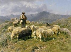 Shepherd of the Pyrenees Painting by Rosa Bonheur