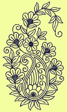Grand Sewing Embroidery Designs At Home Ideas. Beauteous Finished Sewing Embroidery Designs At Home Ideas. Latest Embroidery Designs, Hand Embroidery Design Patterns, Embroidery Online, Hand Embroidery Flowers, Hand Embroidery Stitches, Crewel Embroidery, Machine Embroidery Designs, Applique Design, Embroidery Supplies