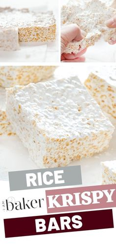 Make your own personal homemade rice Krispy bars recipe with the softest marshmallow texture! This is the best rice Krispy treat that will surely fit your preference with quite easy steps. Save this recipe for later! Easy Cake Recipes, Sweet Recipes, Dessert Recipes, Baker Recipes, Fudge Recipes, Candy Recipes, Rice Recipes, Sweet Desserts, Easy Desserts