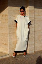 2015 женщины вспыхивают рукава негабаритных белое платье платье макси лоскутное свободно обертывание платье дамы Vestidos(China (Mainland))