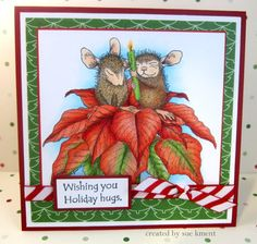 Sue's Stamping Stuff: House Mouse Christmas Hugs