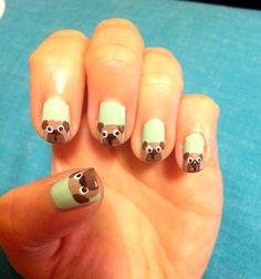 DIY pug nail art