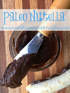 This Nutella is just as smooth and creamy as the real stuff, but far healthier. It is dairy free, refined sugar free, and even has an option for being nut free. – #dairyfree #GAPS #paleo  optionally nutfree | www.sweetkissesanddirtydishes.com
