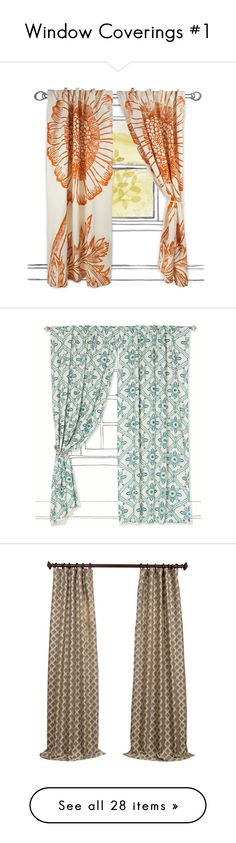 """Window Coverings #1"" by spazzyangel97 ❤ liked on Polyvore featuring home, home decor, window treatments, curtains, floral pattern curtains, red curtains, thomaspaul, flowered curtains, red home decor and curtains & drapes"