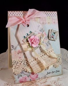 Ribbon Inspiration/Stamp Simply Style – Melissa Frances I love anything by Melissa Frances.she is so awesome. No Time To Stamp? Shabby Chic Karten, Shabby Chic Cards, Pretty Cards, Cute Cards, Tarjetas Stampin Up, Karten Diy, Beautiful Handmade Cards, Mothers Day Cards, Vintage Cards