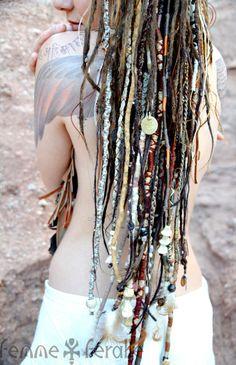 MEDICINE WOMAN • Bohemian Hair Wraps • Temporary Dreadlocks • Hippie Boho Native…