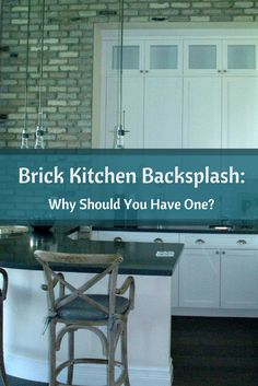 Having a brick kitchen backsplash is becoming more andmore popular among homeowners.  Learn more about this trend... #mortonstones #brickbacksplash #rustic  #decor #interior #homeideas #brickveneer #home #kitchen